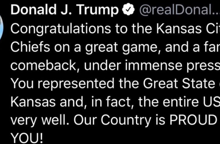 "Donald Trump Tweeted Kansas City Was In ""State Of Kansas"" After KC Chiefs Super Bowl LIV Win"