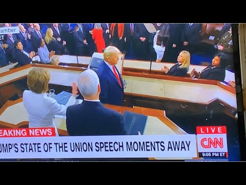 Donald Trump Ignores Nancy Pelosi's Hand Of Greeting At 2020 State Of The Union Address