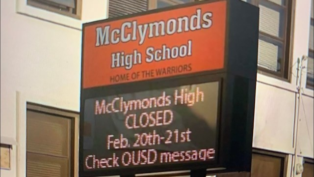 Mcclymonds High School Oakland Closed Temporarily For Testing For Toxic Substance