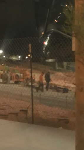 Two Las Vegas Allegiant Stadium Workers Photographed Walking Within Six Feet Of Each Other At 2 22 Am Est