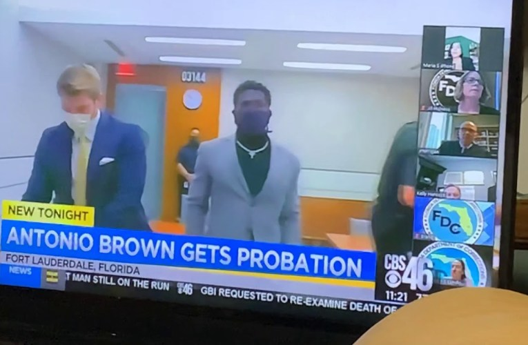 Antonio Brown Former Quasi-Las Vegas Raider WR Gets Probation After Attack On Truck Driver