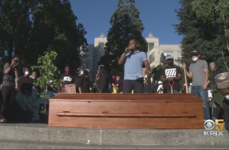 Councilmember Ben Bartlett And Berkeley Activists Host Symbolic Funeral To Bury Racism