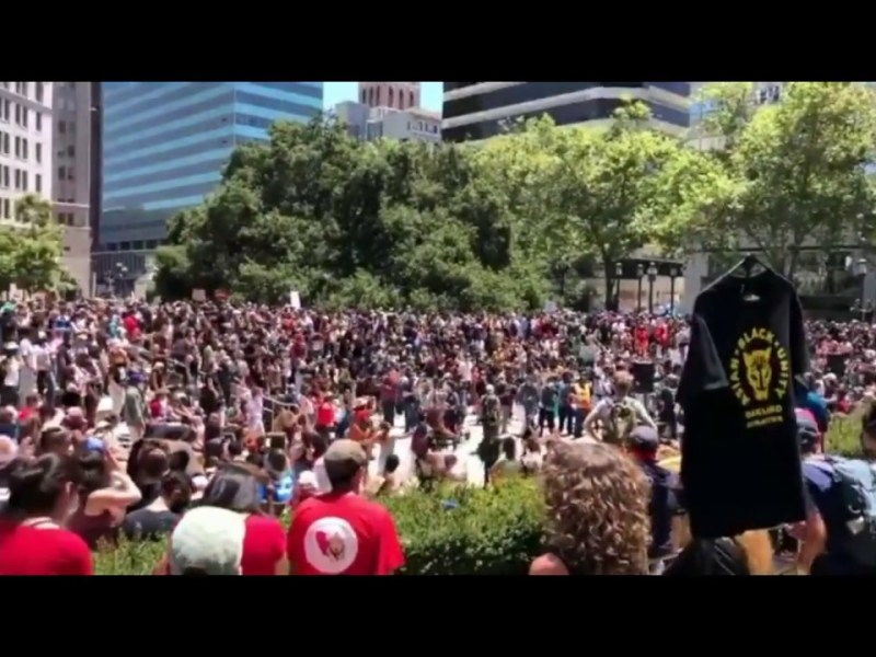 Huge Crowd Gathers For2020 JuneteenthRally In Oakland