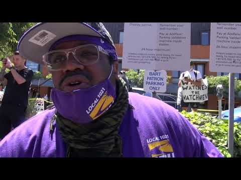 No Justice No Peace! SEIU1021 & Labor Rallies For BLM In Oakland & Marches To UC Sproul Plaza