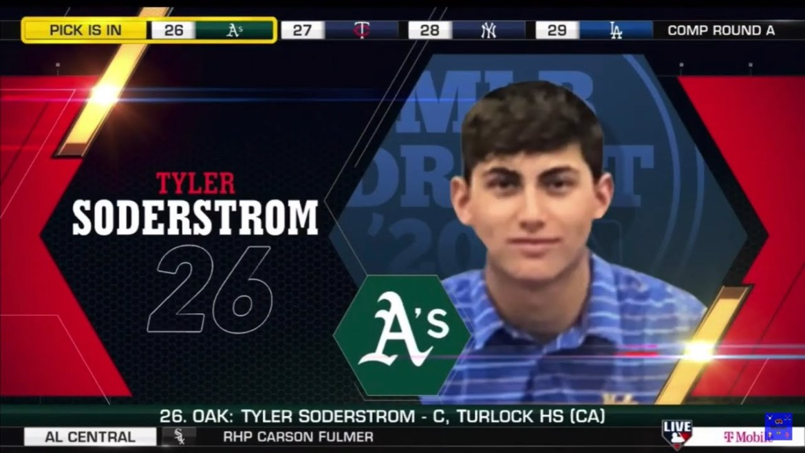 Oakland Athletics Select Tyler Soderstrom From Turlock HS With The 26th Pick Of The 2020 MLB Draft