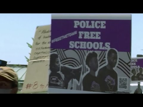 "Oakland Youth Lead Black Organizing Project's ""Police Free Schools"" March"