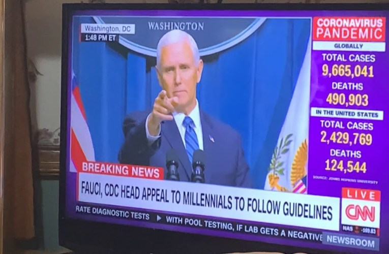 Paula Reid Of CBS Calls Out Mike Pence For Not Wearing A Mask Yet Asking Others To Do So