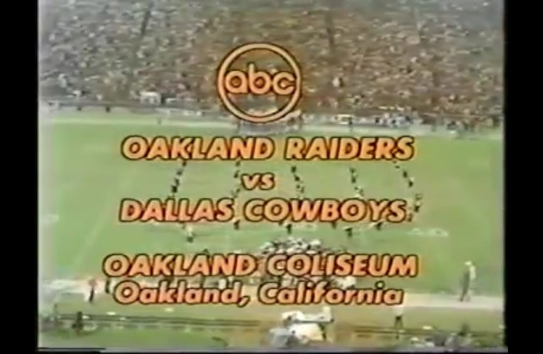 1974-12-14 Dallas Cowboys vs Oakland Raiders