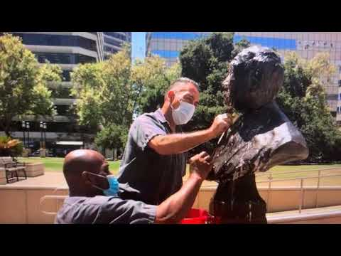 Bust Of Frank H. Ogawa Restored At Oakland City Hall Plaza: Tribute To Oakland's Late Councilmember