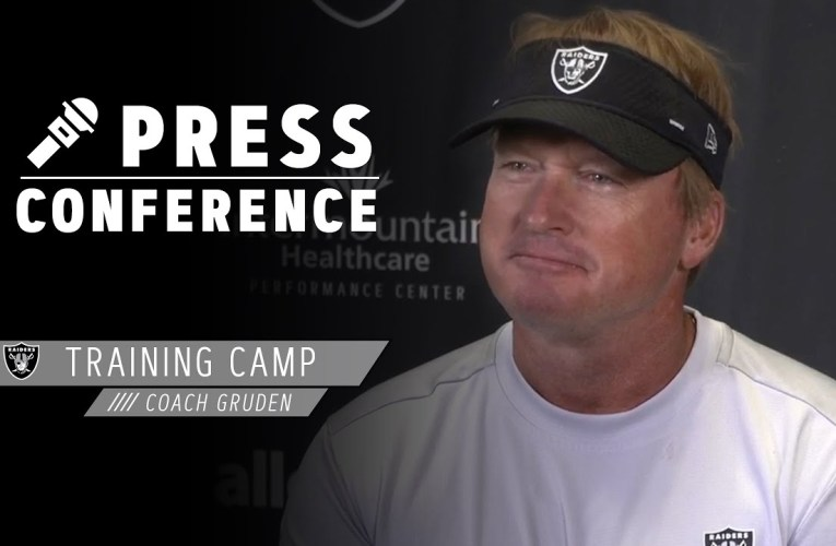 Coach Gruden Discusses 2020 Training Camp & Offseason Preparations | Las Vegas Raiders