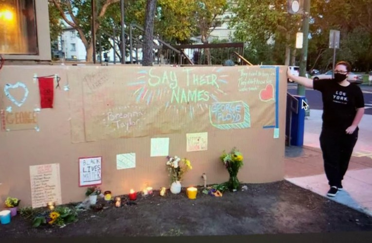 Oakland Lee Street Black Lives Matter Memorial Vandal Identified; Posting His Address Is Wrong