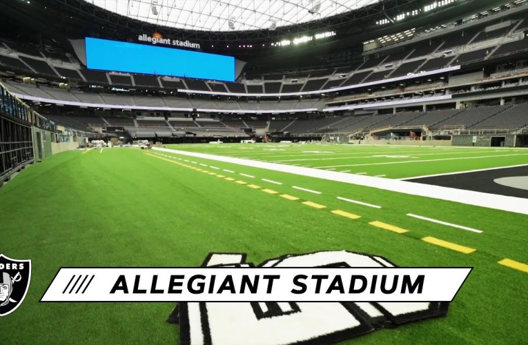 Progress Continues Inside Allegiant Stadium as Construction Nears Completion | Las Vegas Raiders