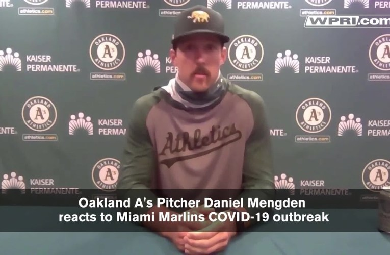 VIDEO NOW: Oakland Pitcher Mendgden on Marlin's COVID-19 outbreak