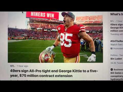 George Kittle Lands Five-Year $75 Million Contract From San Francisco 49ers