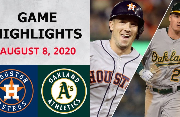 Houston Astros vs. Oakland Athletics Highlights | August 8, 2020 (2020 MLB Season)