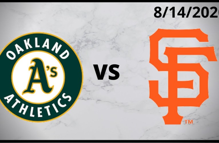 Oakland Athletics Condensed Game (8/14/2020) San Francisco Giants Condensed Game