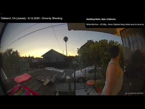 Oakland CA Crime – Drive-by Shooting Video From Unknown Address