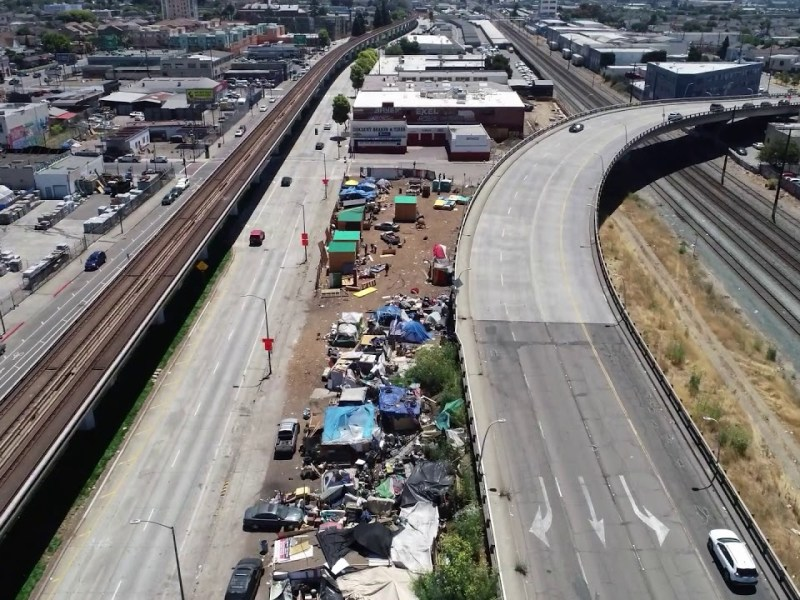 Oakland Homeless Camp From 2018 Drone View