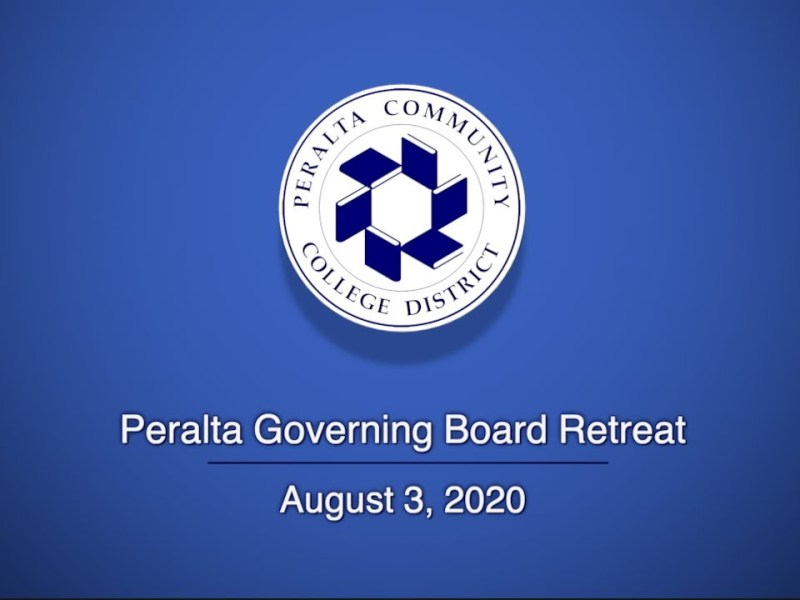 Peralta Governing Board Retreat: August 3, 2020