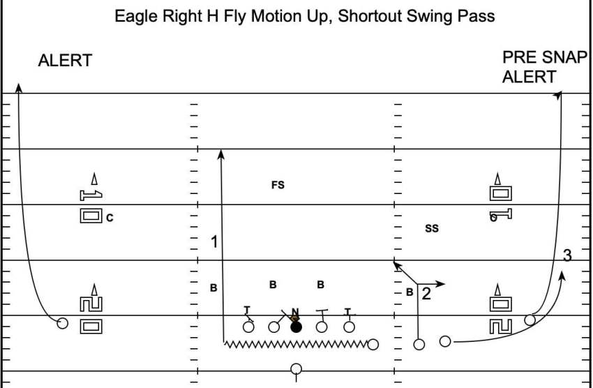 Eagle Right H Fly Motion Up, Shortout Swing Pass
