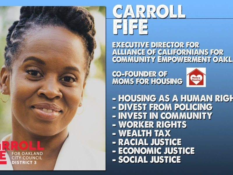 Conversation with Carroll Fife – Progressive for Oakland City Council, District 3