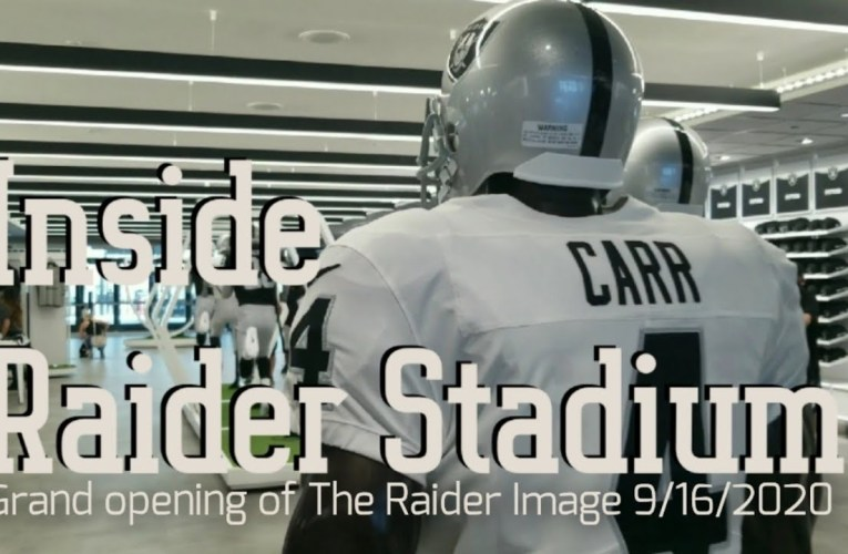 Inside Raider Allegiant Stadium: Grand Opening of The Raider Image Las Vegas Store
