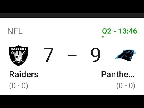Las Vegas Raiders VS. Panthers 1st Qtr Update By Joseph Armendariz