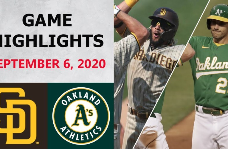 San Diego Padres vs. Oakland Athletics Highlights | September 6, 2020 (Richards vs. Fiers)