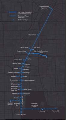 Las Vegas People Mover Proposed Route Tree