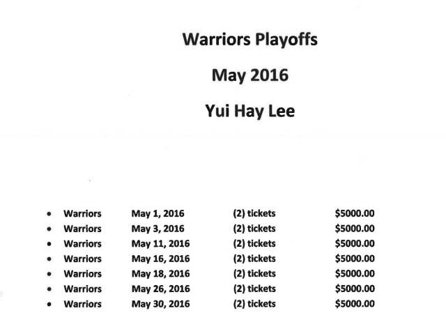 Yui Hay Lee Warriors 2016