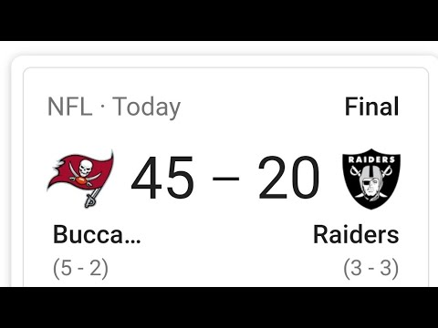 Las Vegas Raiders Lose Big Against Tom Brady's Buccaneers 45 – 20 My Thoughts By Joseph Armendariz