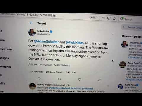 NFL Shutting Down New England Patriots Facility This Morning Due To COVID-19 – Denver MNF Game?