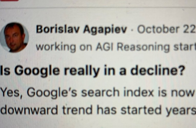 Boris Agapiev On Quora Is Wrong: Google Is Not In A Decline But Revenue Was Hurt By The Pandemic