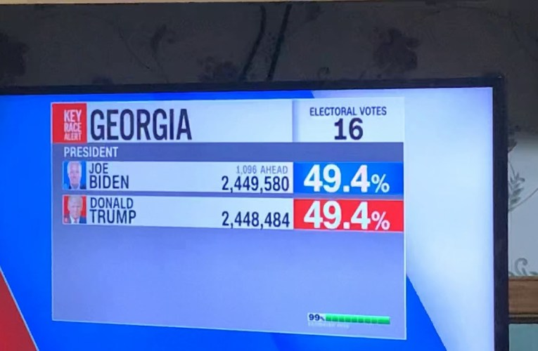CNN Reports Biden Lead Expands To 1,096 Votes Over Donald Trump In Georgia – 2020 Presidential Race