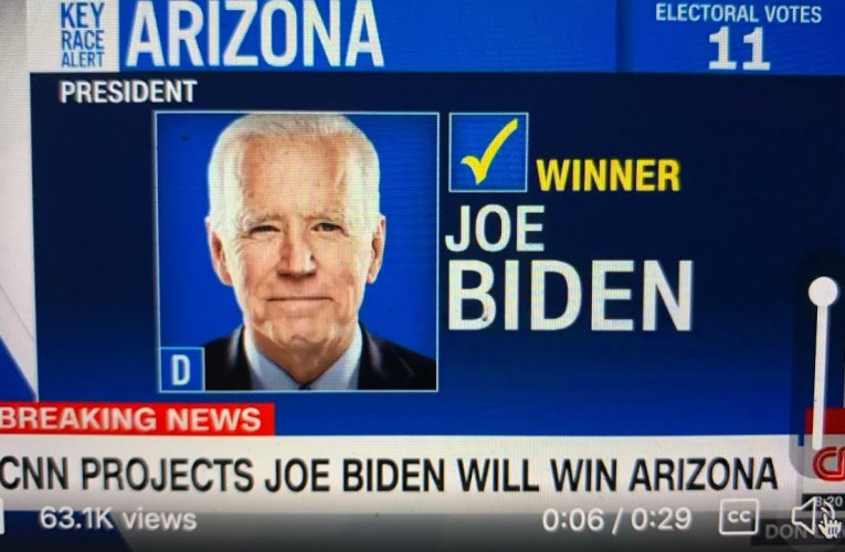 Joe Biden Will Win Arizona, CNN Projects