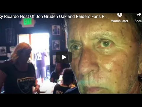 Live: Ricky Ricardo Of Oakland Raiders Fans Home Ricky's Sports In San Leandro Bar Passes, RIP