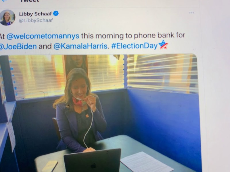 Oakland Mayor Libby Schaaf Election 2020 Phone Banking At Manny's In San Francisco. Come Back Libby!