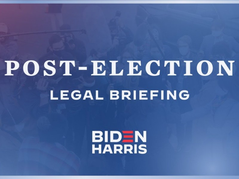 Biden Transition Post-Election Legal Briefing With Former White House Counsel Bob Bauer