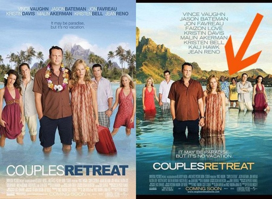 Couples Retreat Racist Poster and Original Poster with Faizon Love and Kali Hawk(3)