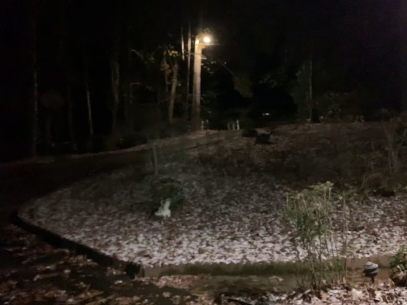 Merry Christmas As Santa Brings Early Morning Snow Falls In Fayetteville Georgia
