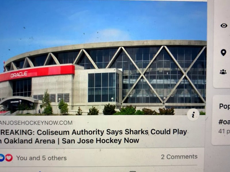 The San Jose Sharks Are Not Playing At Oakland Arena, Coliseum JPA's Gardner Said It Was A Good Idea