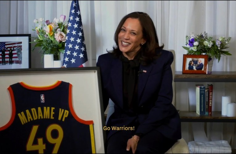 Warriors Salute Oakland's Kamala Harris First Black Female Vice President Of The United States