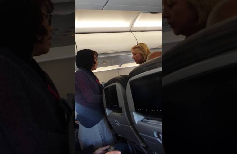 American Airlines Flight From Hawaii To LA –  Racist Flight Attendant Toward Asian Woman?
