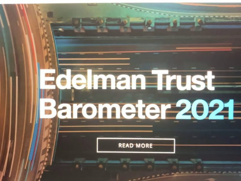 Edelman Trust Barometer 2021 Says Systemic Racism Must End But Shows No Black People In Staff Video