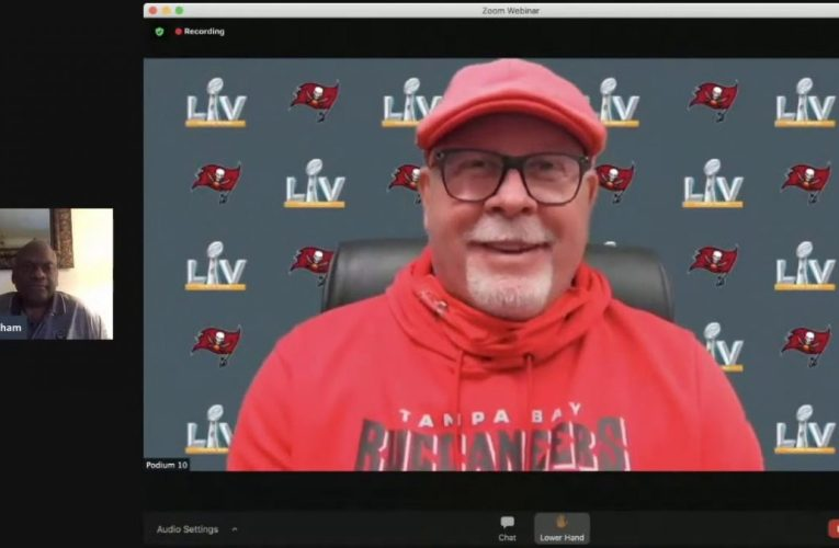 Super Bowl LV Tampa Bay Bucs' Head Coach Bruce Arians Talks Diverse Staff In Interview