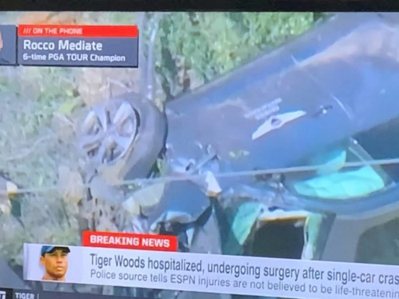 Tiger Woods Car Used In Single Car Crash Was From His Genesis Invitational Tour Golf Tournament
