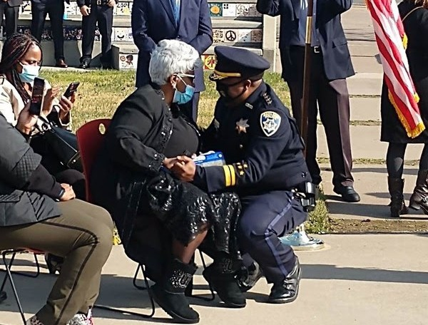 Chief Armstrong with his Mom