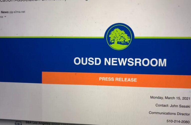 OUSD Sends Press Release For 10:30 AM Press Conference To Zennie62Media At 10:30 AM PST – Why Late?