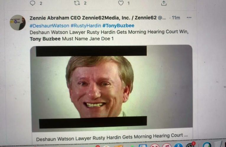Deshaun Watson Update: Rusty Hardin Win Over Tony Buzbee, Jane Doe Naming Ends, Real Names To Come