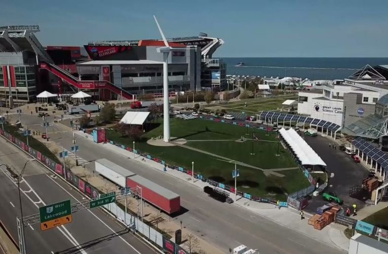 NFL DRAFT 2021: Drone shots of the NFL Draft site for this week